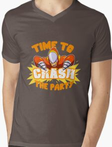 Time to Crash the Party Mens V-Neck T-Shirt