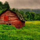 AN ADIRONDACK BARN  by MIKESANDY