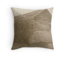 Old Wooden Barn Falling Down Throw Pillow