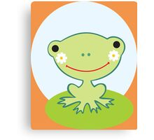 Little smiling frog Canvas Print
