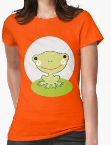 Little smiling frog Womens Fitted T-Shirt