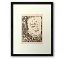 Five Mice in a Mouse Trap Laura Elisabeth Howe Richards and Kate Greenaway 1881 0022 Nibble Brighteyes Fluff Puff Downy Framed Print