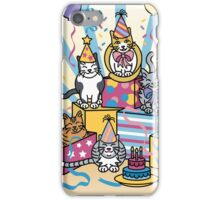 Party Cats iPhone Case/Skin