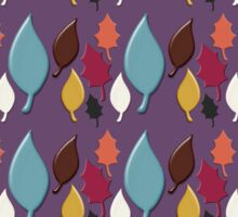 Autumn Leaves Colorful Pattern Sticker