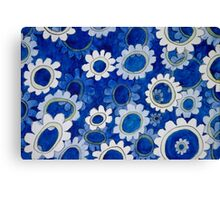 mechanical flowers Canvas Print