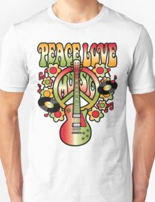 Peace-Love-Music Unisex T-Shirt