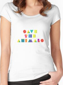 Save The Animals Women's Fitted Scoop T-Shirt
