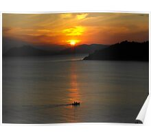 Skiathos Sunset Poster