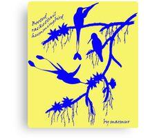 Blue booted rackettail hummingbird Canvas Print
