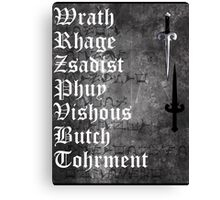 The Brothers [ the Black Dagger Botherhood ] Canvas Print