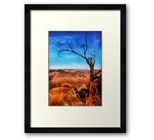 Grand Canyon - My leaves are long gone Framed Print