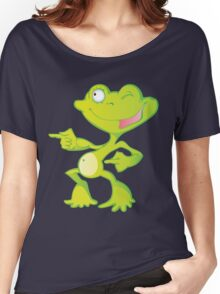 Funny dancing frog Women's Relaxed Fit T-Shirt