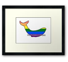 Homosexuwhale - homosexual whale Framed Print