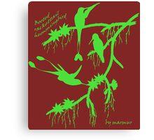Green booted rackettail hummingbird Canvas Print
