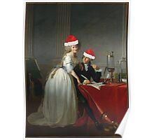 Antoine-Laurent Lavoisier (1743–1794) and His Wife (Marie-Anne-Pierrette Paulze, 1758–1836) Jacques Louis David  Poster