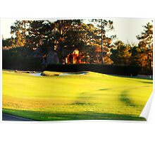 Sunset on the Fairway Poster