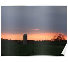 Sunset On The Farm In Wall, New Jersey Nature, USA Poster