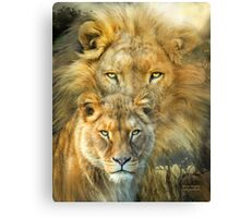 Lion And Lioness - African Royalty Canvas Print