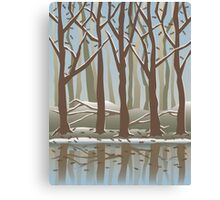Four Seasons Forest_Winter Canvas Print