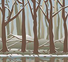 Four Seasons Forest_Winter by Lisann