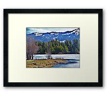 In Cascade, Id. Framed Print