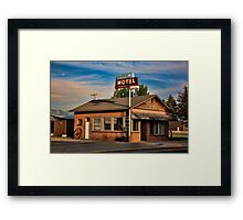 Swiss Mountain Motel Framed Print