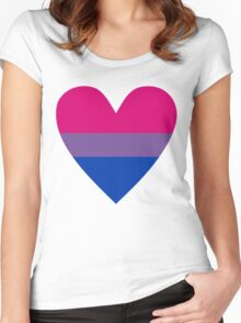 Bisexual heart Women's Fitted Scoop T-Shirt