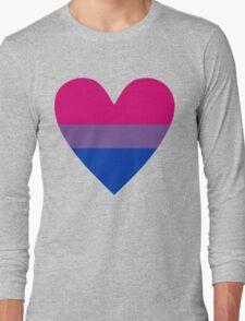 Bisexual heart Long Sleeve T-Shirt