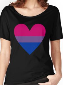 Bisexual heart Women's Relaxed Fit T-Shirt
