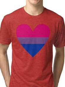 Bisexual heart Tri-blend T-Shirt