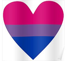 Bisexual heart Poster
