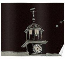 Stable Clock at Dunham Massey Hall Poster