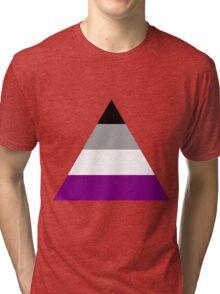 Asexual triangle flag Tri-blend T-Shirt