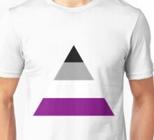Asexual triangle flag Unisex T-Shirt