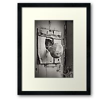 Nobody's Home Framed Print