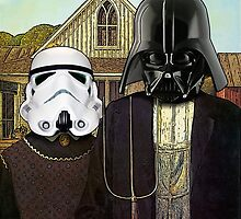 American Gothic Darth Vader & Stormtrooper by SirLeeTees