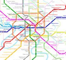 Moscow Metro Sticker