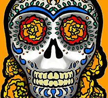 Sugar Skull - Marigolds by BagChemistry