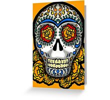 Sugar Skull - Marigolds Greeting Card