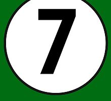 7, SEVEN, LUCKY, Seventh, Number Seven, Number 7, Racing, Seven, Competition, BRITISH RACING GREEN by TOM HILL - Designer
