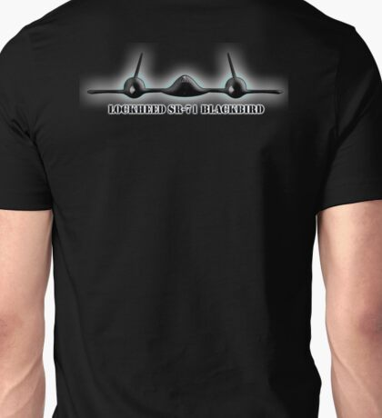 AMERICAN, Aircraft, Aeroplane, Blackbird, Lockheed, SR 71, Mach 3+, Strategic Reconnaissance Aircraft, United States Air Force, on BLACK Unisex T-Shirt