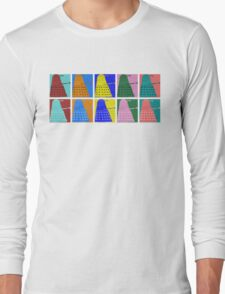Pop art Daleks - variant 1 Long Sleeve T-Shirt