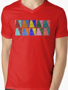 Pop art Daleks - variant 1 Mens V-Neck T-Shirt
