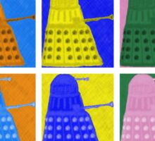 Pop art Daleks - variant 1 Sticker