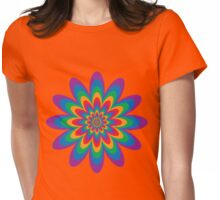 Infinite Flower Womens Fitted T-Shirt