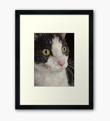 Cat PolyPortrait Framed Print