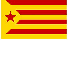 Estelada Flag, Catalan, Spain, Spanish, Red Estelada, Senyera Estelada, Starred flag, Lone Star flag by TOM HILL - Designer