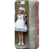Emily on pedestal iPhone Case/Skin