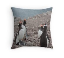 Gentoo Chorus Throw Pillow