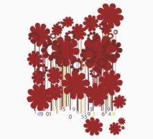 Floral bar code by Richard Laschon